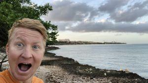 Mårten Boström på Aruba.
