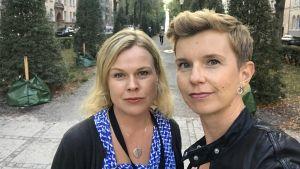 Ingemo Lindroos och Linda Söderlund.