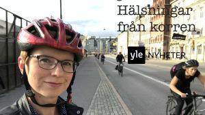 Yles Nordenkorrespondent Linda Söderlund i Stockholm