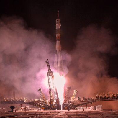 Sojuz sköts upp från Kazakstan