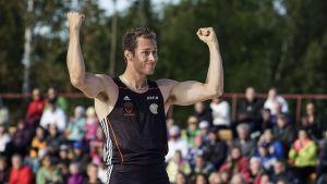 Mikael Westö tog för åttonde gången medalj i Kalevaspelen.
