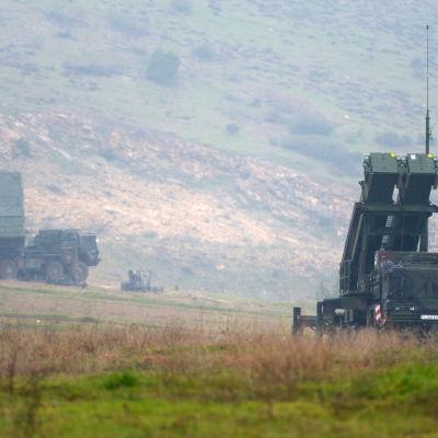 Tyska Patriot-missiler nära Kahramanmaras, Turkiet den 23 februari 2013.