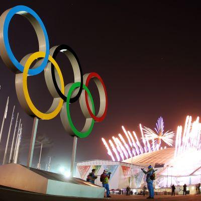 Olympiska ringarna.