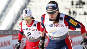 Marit Björgen och Justyna Kowalczyk, VM 2011.
