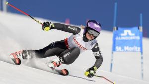 Tessa Worley i elden vid VM i St. Moritz 2017.