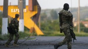 Proryska milismän i Slovjansk.