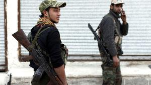 Medlemmar i kurdmilisen YPG i Kobane i januari 2015.