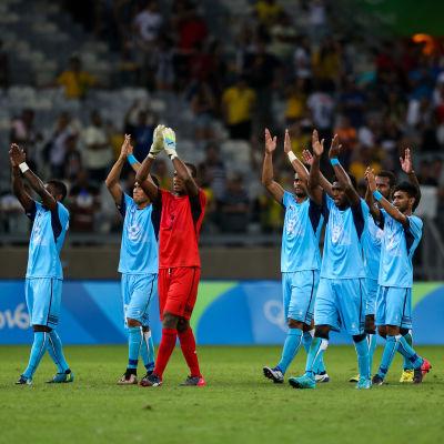 Fiji klappar efter 0–10 mot Tyskland.