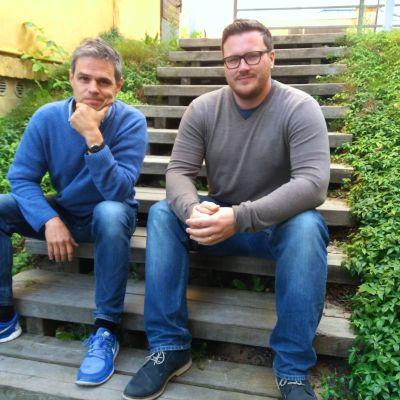 Fredagssnackarna Larson Österberg och Robert Louhimies.