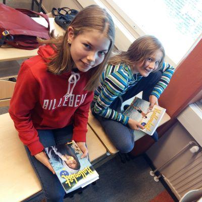 Mette och Tuukka går på femman i Mertalan koulu i Nyslott.