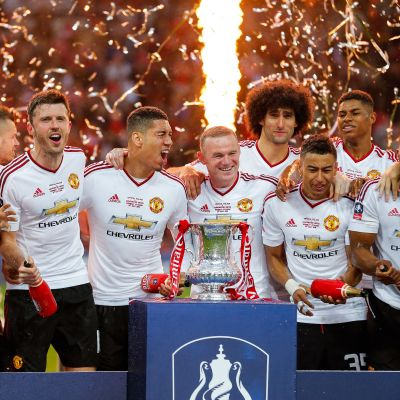 Manchester United FA Cup-voittajat 2016.