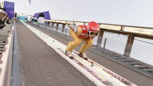 Antti Aalto tävlar för första gången på VM-nivå i Lahtis.