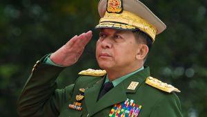 Myanmars armékommendör Min Aung Hlaing