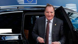 Stefan Löfven under EU-toppmötet i Bryssel den 2 juli.