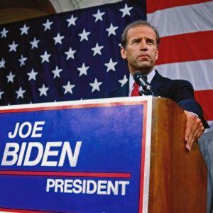 Joe Biden, fotogradferad 1987 när han meddelade att han kandiderar i demokraternas primärval.