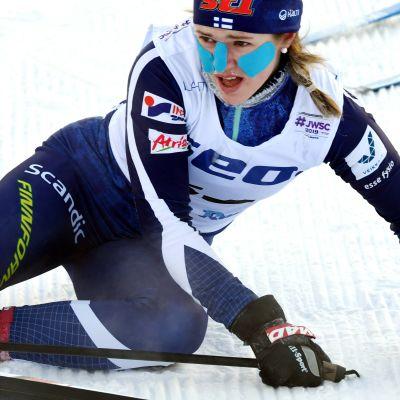 Hanna Ray debuterade i junior-VM med en 28:e plats.