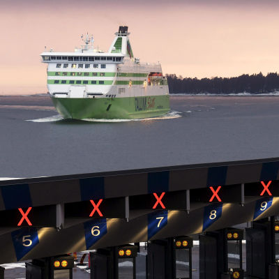 Matkustajalaiva saapumassa Helsingin Länsisatamaan.
