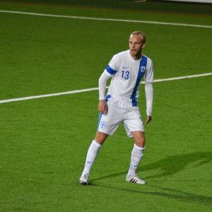 Hampus Holmgren spelar för Finlands U21-landslag.