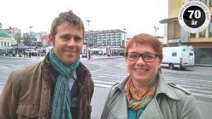 Johanna Wassholm och Fredrik Petersson intresserar sig för historia används politiskt.