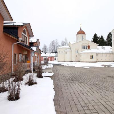 Valamon luostarin piha