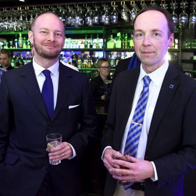 Sannfinländarna Sampo Terho och Jussi Halla-aho