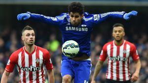 Diego Costa gjorde Chelseas mål när laget fick nöja sig med 1-1 hemma mot Southampton.