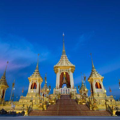 Den kungliga paviljongen där Thailands förra kung Bhumibol Adulyadej kremeras den 26 oktober.