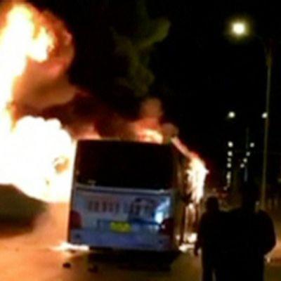 Linja-auton palossa kuoli 14 ja loukkaantui yli 30 ihmistä Yinchuanissa, Kiinassa, 3. tammikuuta.