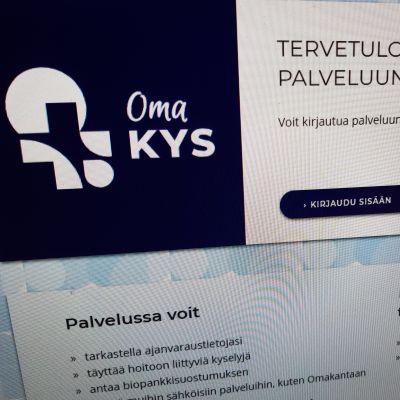 OmaKYS -palvelun etusivu verkossa