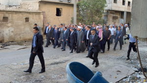 Syriens rpesident bashar al-Assad i Daraya