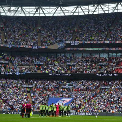 Huddersfield och Reading gjorde upp om en Premier League-plats i på Wembley.