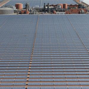 Noor 1 i Ouarzazate i södra Marocko är ett av de största solkraftverken i världen.