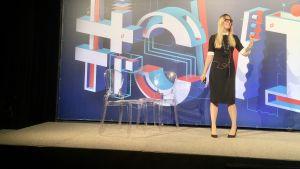 Magdalena Golebiewska föreläser om kryptovaluta