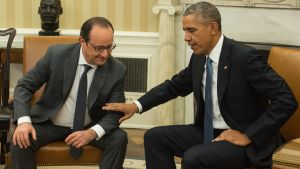 Francois Hollande och Barack Obama i USA.