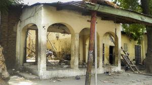 Moské i Maiduguri i Nigeria som utsattes för en självmordsattack