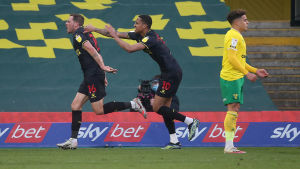 Dan Gosling gjorde segermålet mot Norwich.