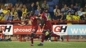 Beryly Lubala firar mål.