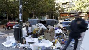 Soporna svämmar över på Madrids gator