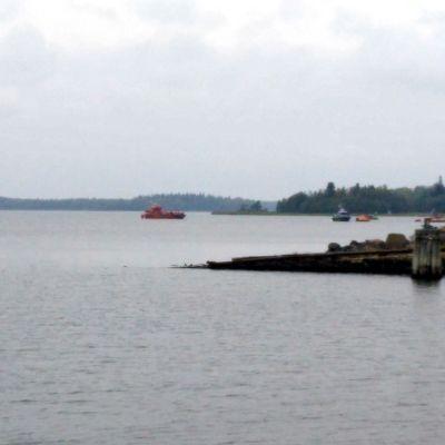 Sjöräddningsövning utanför Vasa.