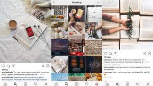 Böcker och läsupplevelser på Instagram