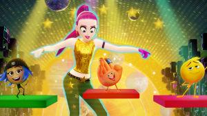 Prinsessan, Highfive och Gene skakar loss på dansgolvet.