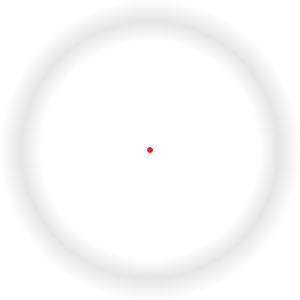 Troxler-kuvio, jossa harmaa kehä katoaa näkyvistä, jos tuijotat punaista pistettä