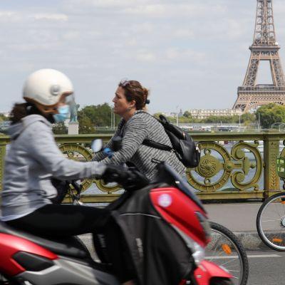 Cyklister i Paris