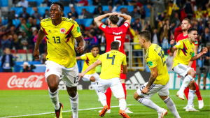 Yerry Mina firar mål.