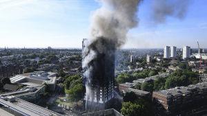 Det brinnande huset i London.