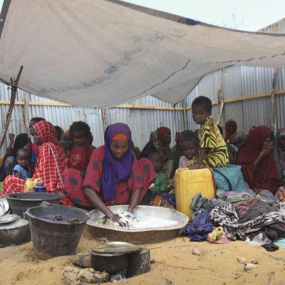 Internflyktingar i Somalia i mars 2017