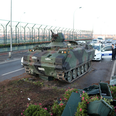 Stridsvagn i Istanbul.