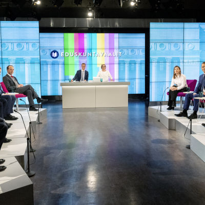 Suurten puolueiden puheenjohtajien eduskuntavaalit 2019 tentti.