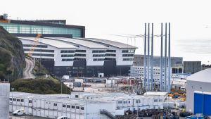 Bild från kärnkraftsbygget Flamanville 3 i Frankrike.