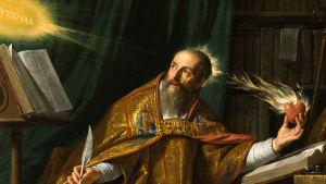 Målning av Augustinus som skriver
